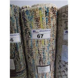 NEW KARMIC HUES 5 X 8' FOREST COLLECTION BEIGE AREA RUG