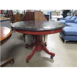 "VINTAGE ROUND PEDISTAL TABLE 30.5""H X 41""W"
