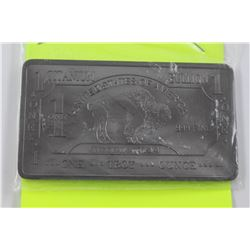 1OZ.  .999 FINE TITANIUM BUFFALO BAR.  USA MINT. ONLY 400 MINTED