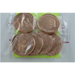 6 X .999 FINE COPPER   DONALD TRUMP ROUNDS