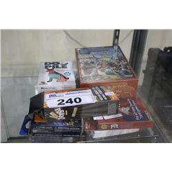 ASSORTED PUZZLES AND CARD GAMES