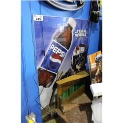 STAR WARS EPISODE 1 PEPSI DISPENSER COVER AND 3D PROMO PICTURE