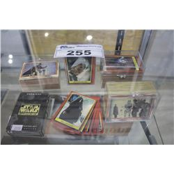 LOT OF ASSORTED STAR WARS TRADING CARDS