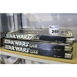 "LOT OF 3 STAR WARS ""ESCAPE FROM DEATHSTAR"" BOARD GAMES"