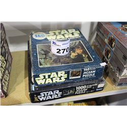 2 STAR WARS JIGSAW PUZZLES