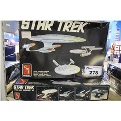 PAIR OF STAR TREK USS ENTERPRISE MODEL KITS