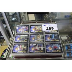 BINDER OF ASSORTED STAR TREK COLLECTOR CARDS