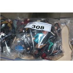 BAG OF ASSORTED STAR TREK FIGURES