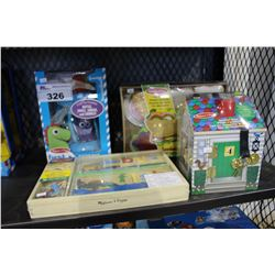 LOT OF ASSORTED MELISSA AND DOUG CHILDRENS TOYS