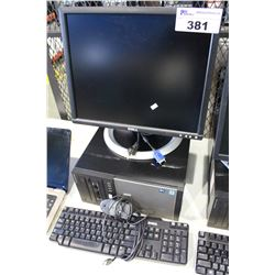 DELL OPTIPLEX 7010 PC COMPUTER WITH DELL LCD MONITOR, KEYBOARD & MOUSE