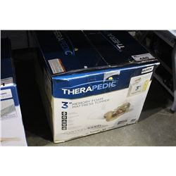 "THERAPEDIC 3"" QUEEN SIZE MEMORY FOAM TOPPER"