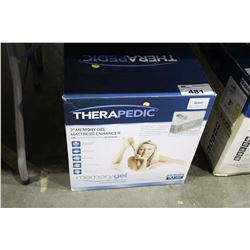 "THERAPEDIC 2"" QUEEN SIZE MEMORY GEL TOPPER"