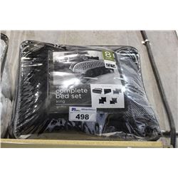 8 PIECE COMPLETE BEDSET KING SIZE 'GRIFFIN'