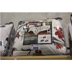 8 PIECE COMPLETE BEDSET QUEEN SIZE 'SHEILA'