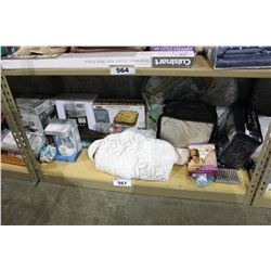 SHELF LOT OF DEPARTMENT STORE GOODS: COPPER CRISPER, DIFFUSER, COMFORT BRA AND MORE