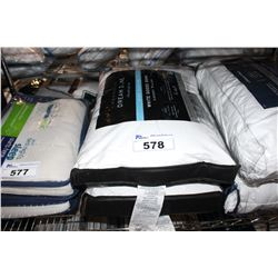 PAIR OF WHITE GOOSE DOWN SIDE SLEEPER PILLOWS