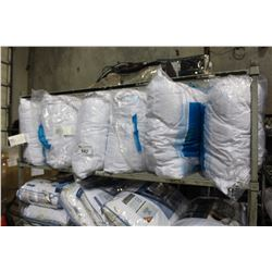 SHELF LOT OF EURO SIZE PILLOWS