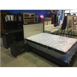 NEW 6 PIECE BEDROOM SUITE, INCLUDING 6 DRAWER DRESSER WITH MIRROR, 5 DRAWER HIGHBOY,  2