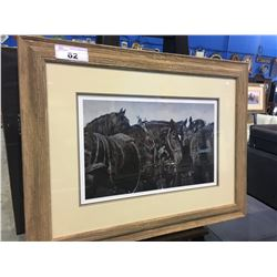 FRAMED LIMITED EDITION PRINT BY ADELINE HALVORSON - HORSES