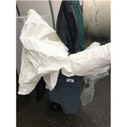 GARBAGE CAN AND CONTENTS