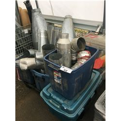 PALLET LOT OF DUCTING PIPE