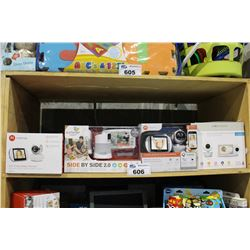 SHELF LOT OF DEPARTMENT STORE GOODS: 4 BABY MONITOR SYSTEMS