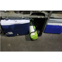 SHELF LOT COOLER AND CAMPING GEAR