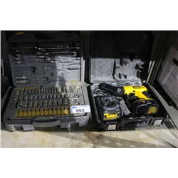 DEWALT DRILL AND SOCKET SET