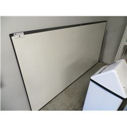 "LARGE QUARTER WHITEBOARD 96.25""X50"" (SOME FREIGHT DAMAGE - SUGGEST VIEWING)"