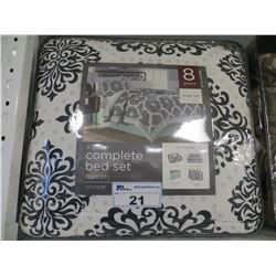 COOPER 8 PC QUEEN SIZE COMPLETE BED SET