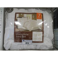SIDNEY 7 PC KING SIZE COMPLETE BED SET