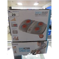 HOMEDICS QUAD ACTION SHIATSU/SHIATSU SELECT FOOT MASSAGER WITH HEAT