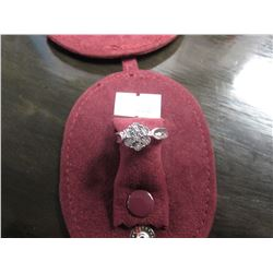 STERLING SILVER 7 DIAMOND RING RETAIL $300
