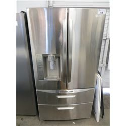 """LG SS DOUBLE DOOR FRIDGE WITH ROLL OUT FREEZER AND WATER & ICE DISPENSER MODEL LMX28994ST (36""""W X"""
