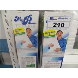 2 MY PILLOW CLASSIC FIRM FILL STANDARD QUEEN & KING SIZE PILLOWS