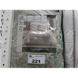 DETAILS KING SIZE 3 PC COMFORTER SET