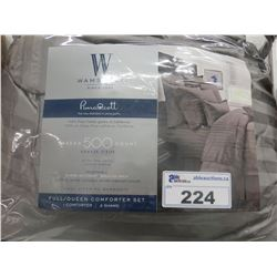 WAMSUTTA 500 THREAD COUNT FULL QUEEN COMFORTER SET
