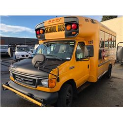 2007 BLUEBIRD E-450, 12 PASS BUS, YELLOW, VIN # 1FDXE45P96HB00181