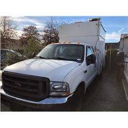 2004 FORD F-350 XLT SUPERDUTY, SERVICE TRUCK, WHITE, VIN # 1FDSX34S54ED76957