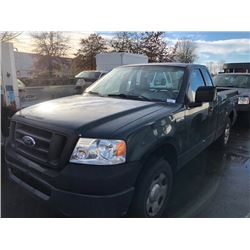 2007 FORD F-150 XL, 2DR PU,GREEN, VIN #1FTRF12207KC89552