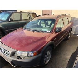 2002 VOLVO XC70, 4DR SW, RED, VIN # YV1SZ58D721079774