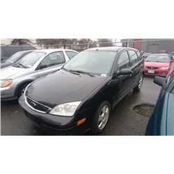2007 FORD FOCUS, BLACK, 4 DOOR SEDAN, GAS, AUTOMATIC, VIN#1FAFP37N47W329421, TMU, RD,CD,PW,PL,