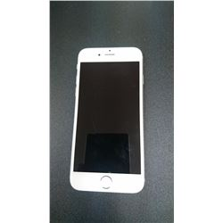 APPLE IPHONE 6-16GB, SILVER, LOCKED TO TELUS, WORKING ORDER, NO POWER CORD OR ACCESSORIES