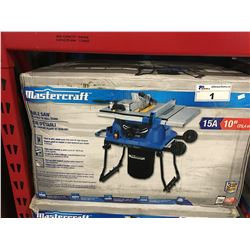 "MASTERCRAFT 10"" TABLE SAW WITH FOLD IN ROLL STAND"
