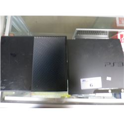 SONY PLAYSTATION 3 & XBOX ONE (NO CORDS OR CONTROLLERS/WORKING CONDITION UNKNOWN)