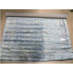 """BLUE FLORAL DESIGN AREA RUG APPROX 63.25"""" X 72"""""""