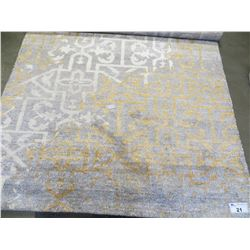 NEW KARMIC HUES RIVA COLLECTION 5 X 8' GREY-GOLD AREA RUG