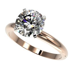 2.50 CTW Certified G-Si Quality Diamond Engagement Ring 10K Rose Gold - REF-837X6T - 32943