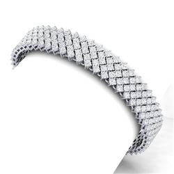 20 CTW Certified VS/SI Diamond Bracelet 18K White Gold - REF-872Y8N - 40049
