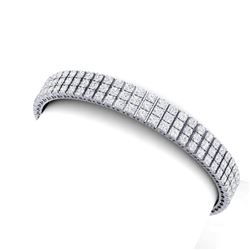 12 CTW Certified SI/I Diamond Bracelet 18K White Gold - REF-620X5T - 39941